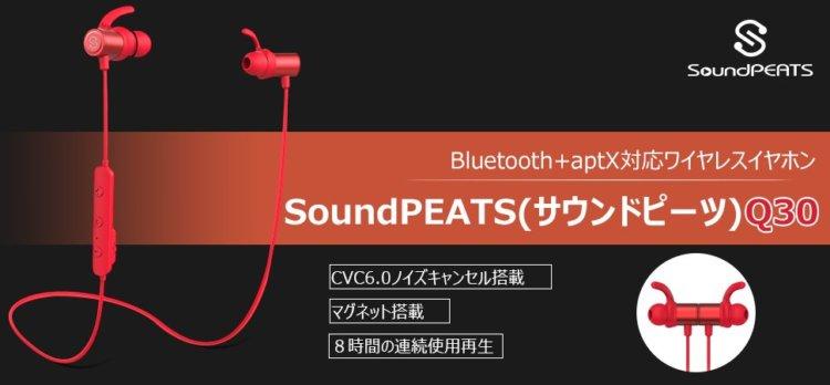 SoundPEATS(サウンドピーツ) Q30 Plus Bluetooth イヤホン 実機レビュー