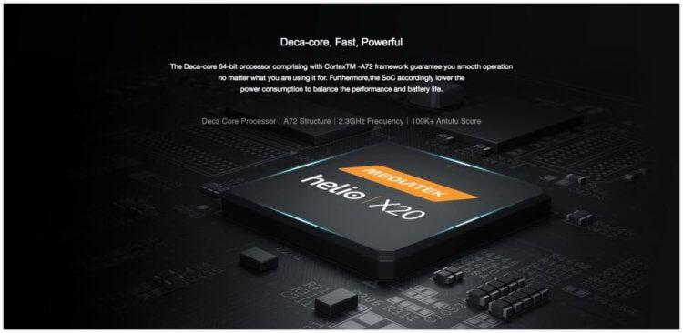 MediaTek社製のHelio X20(MT6797)10コア
