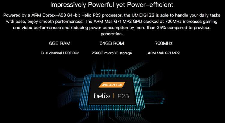 高性能CPU helio P23