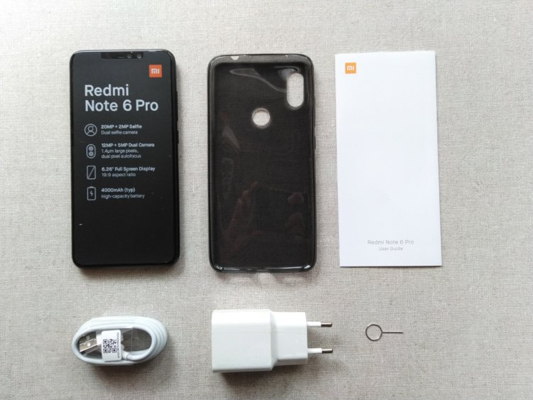 Xiaomi Redmi Note 6 Proパッケージ内容