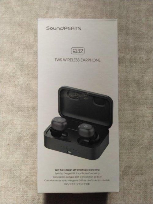 SoundPEATS Q32 Bluetooth イヤホン化粧箱前面