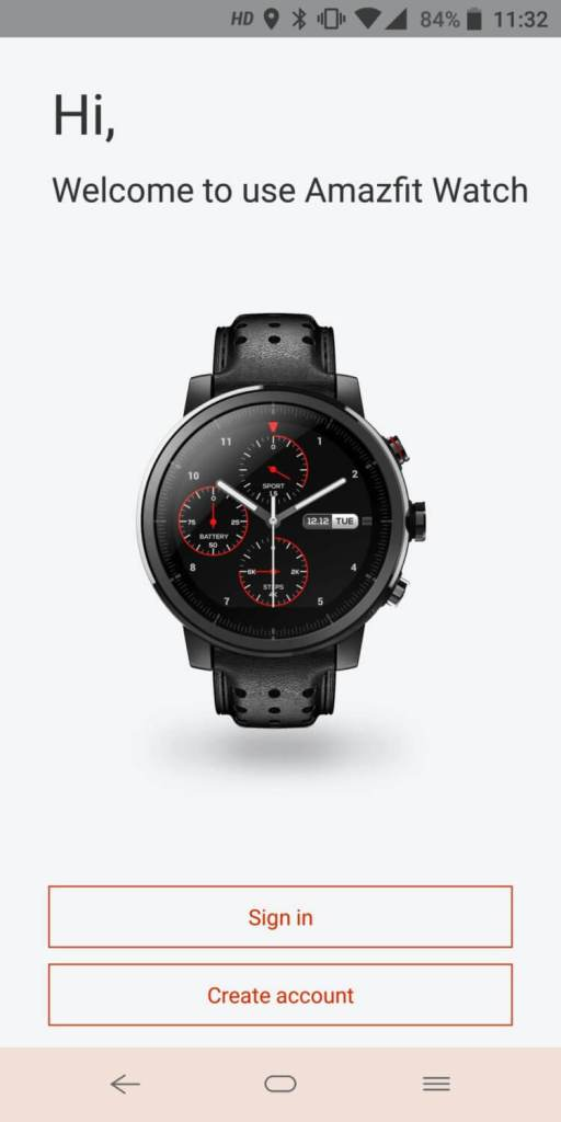 Amazfit Stratos (Amazfit Watch)アプリ設定
