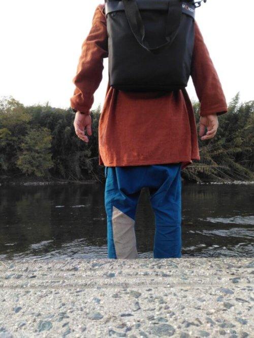 Large Shoulder Messenger Bag for DSLR Camera Photography バックパック利用時