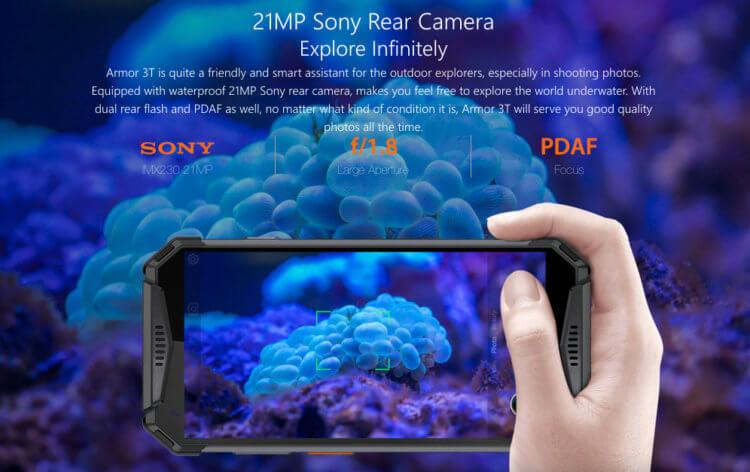 リアカメラにSony製センサー(IMX230)21.0MPを採用