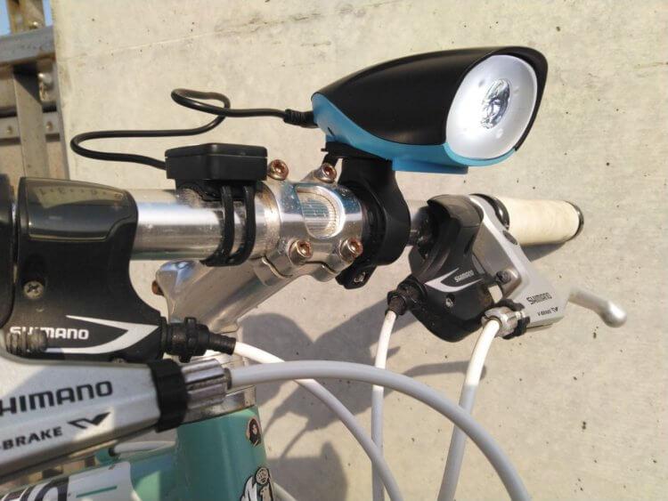 NIERBO 自転車ライト 点灯時(自転車実装)