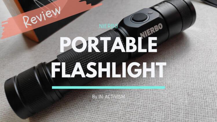 NIERBO USB充電式 LED フラッシュライト レビュー|IP66規格1200ルーメン高輝度タクティカルライト