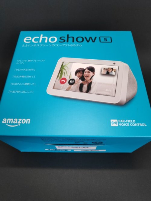 Amazon Echo Show 5 化粧箱(正面)