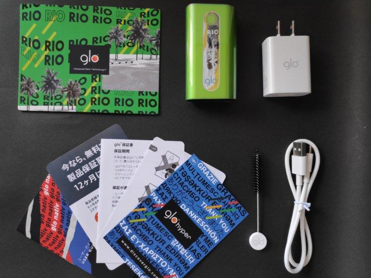 グロー・ハイパー・リオ / glo hyper RIO パッケージ内容