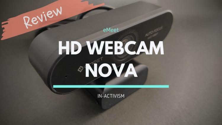 eMeet NOVA WEBカメラ レビュー|テレワークなどにオススメな汎用性重視96°広角フルHD対応ウェブカメラ