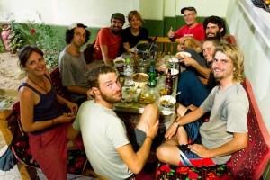 Communal Cyclist Dinner