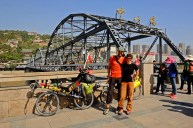 Proud Cyclist along the Yellow River