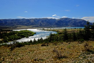 Along the Waitaki River