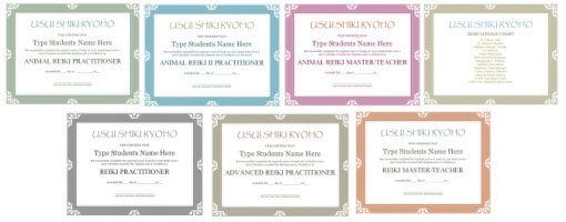 Reiki tools usui reiki certificate templates package yelopaper Image collections