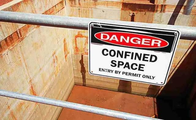OSHA California - segnalazione di spazio confinato con obbligo di autorizzazione all'accesso