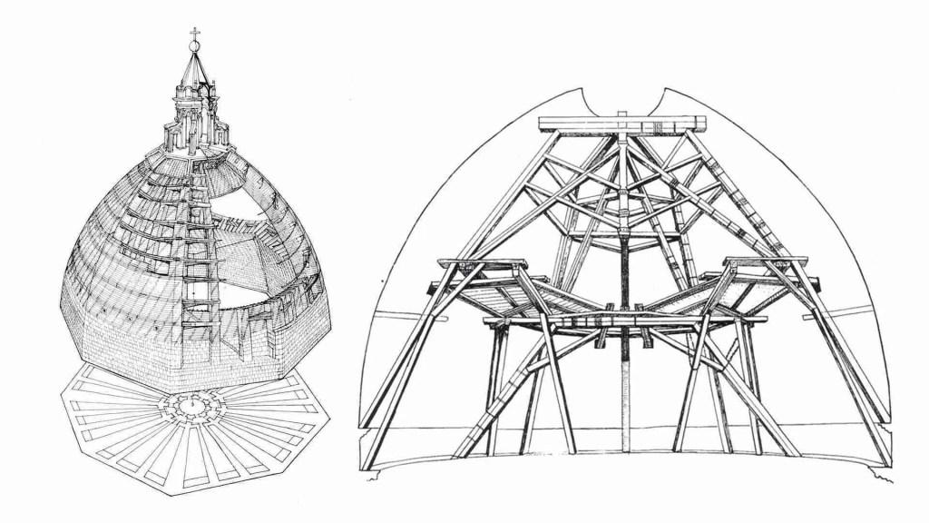 imbracatura - costruzione della cupola del duomo di Firenze