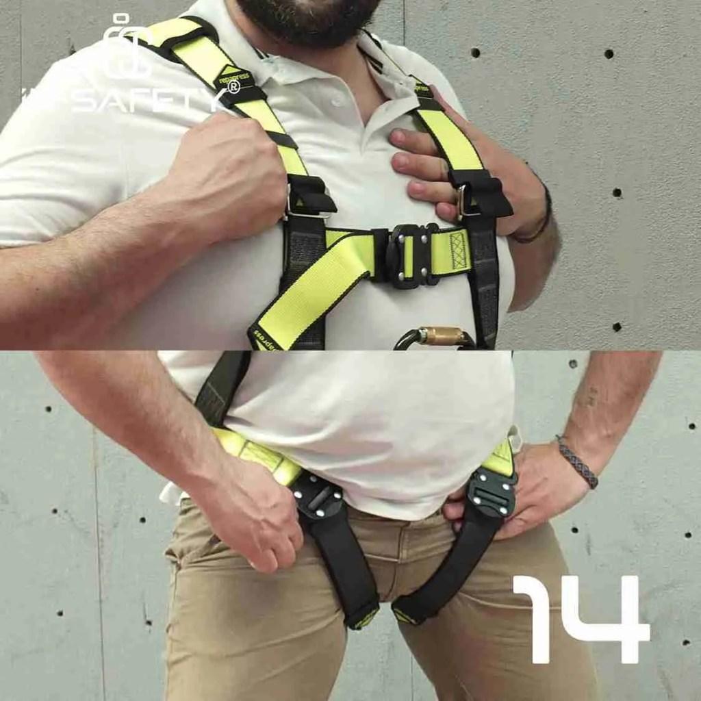 come indossare un'imbracatura - passo 14