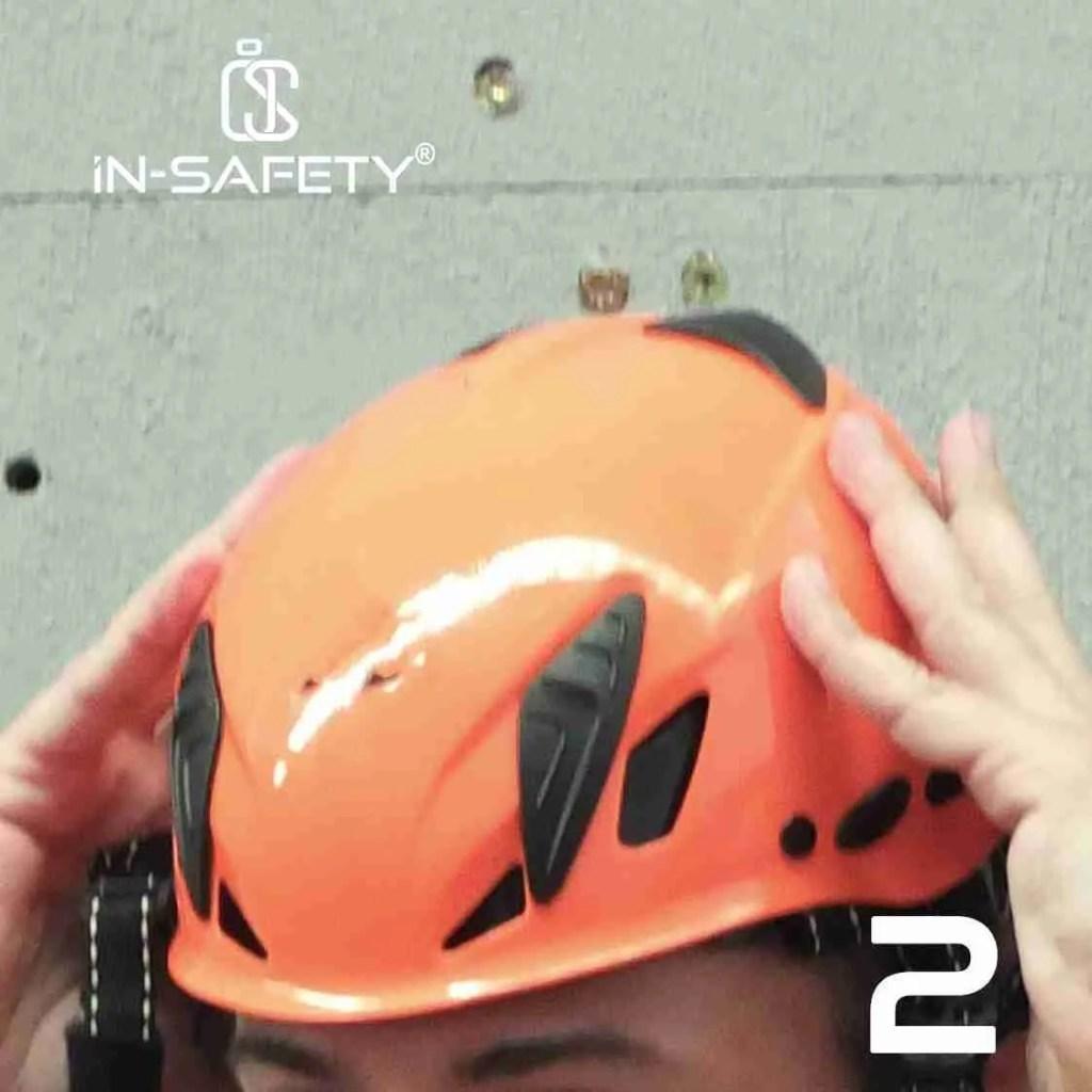 come indossare un'imbracatura - indossare casco 2
