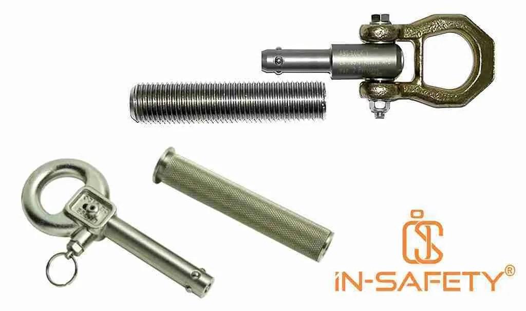 Due tipologie di ancoraggi rimovibili tipo socket ognuno con la propria cava