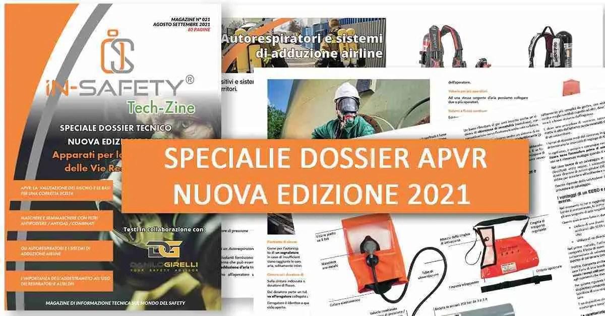 IN-SAFETY® Tech-Zine - Copertina del numero Settembre Agosto 2021