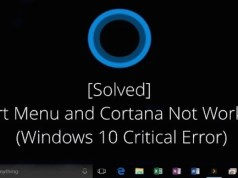 start menu and cortana aren't working