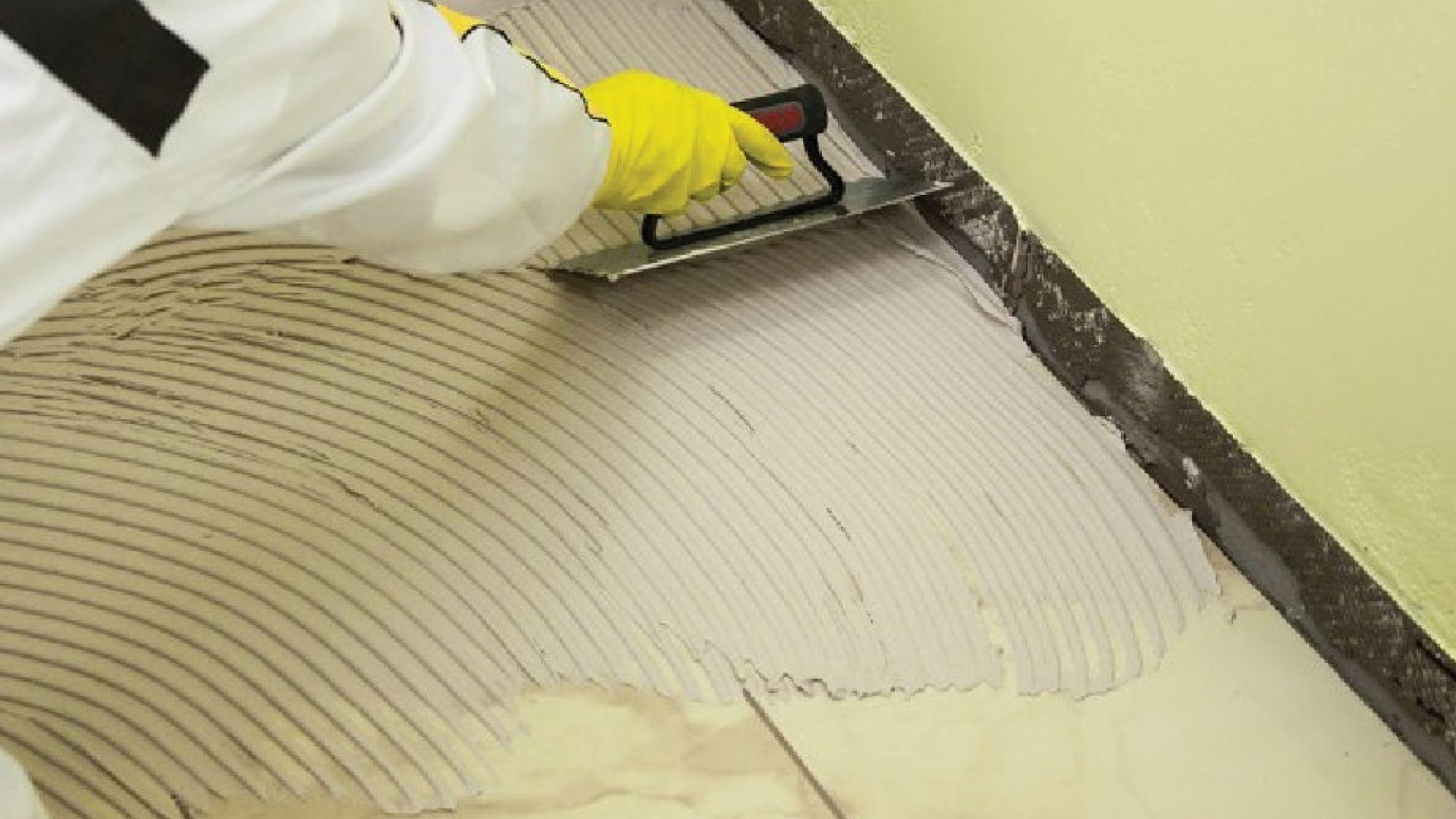 use tile adhesive to lay tiles