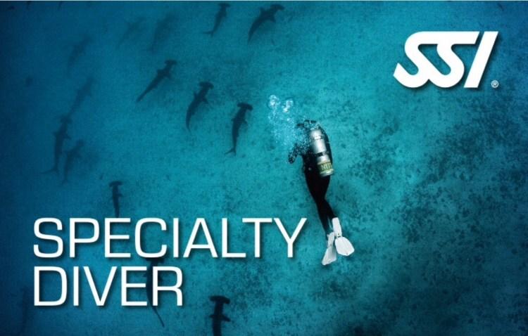 SSI Specialty Diver brevet