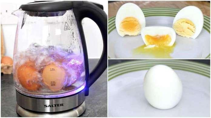 boil an egg in hotel kettle