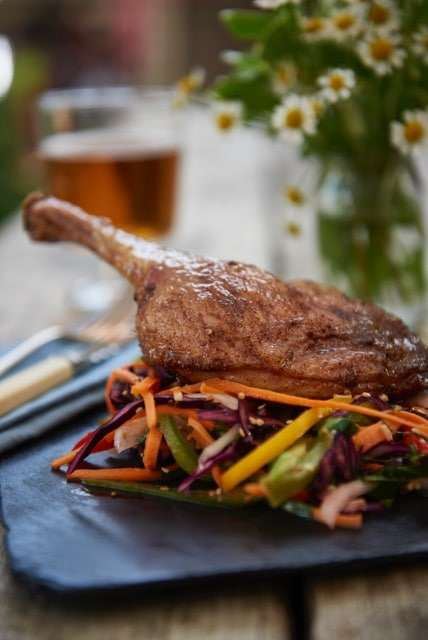 Five-spice Duck Leg & Asian Slaw