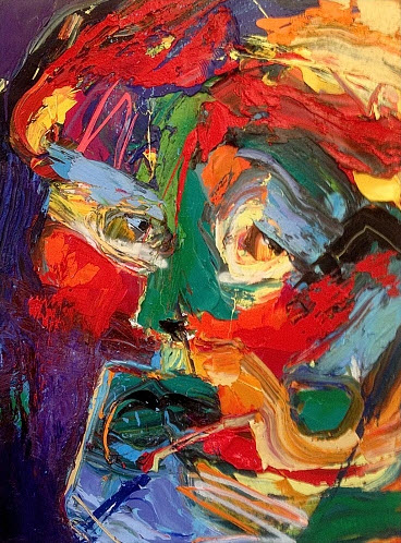 amazing face abstract paintings