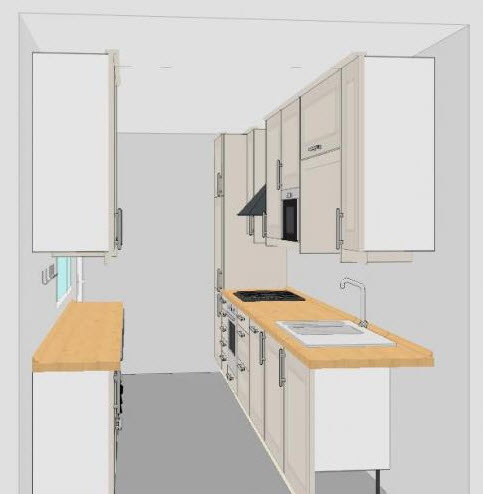 Galley Kitchen Apartment small galley kitchen design layouts | ideasidea