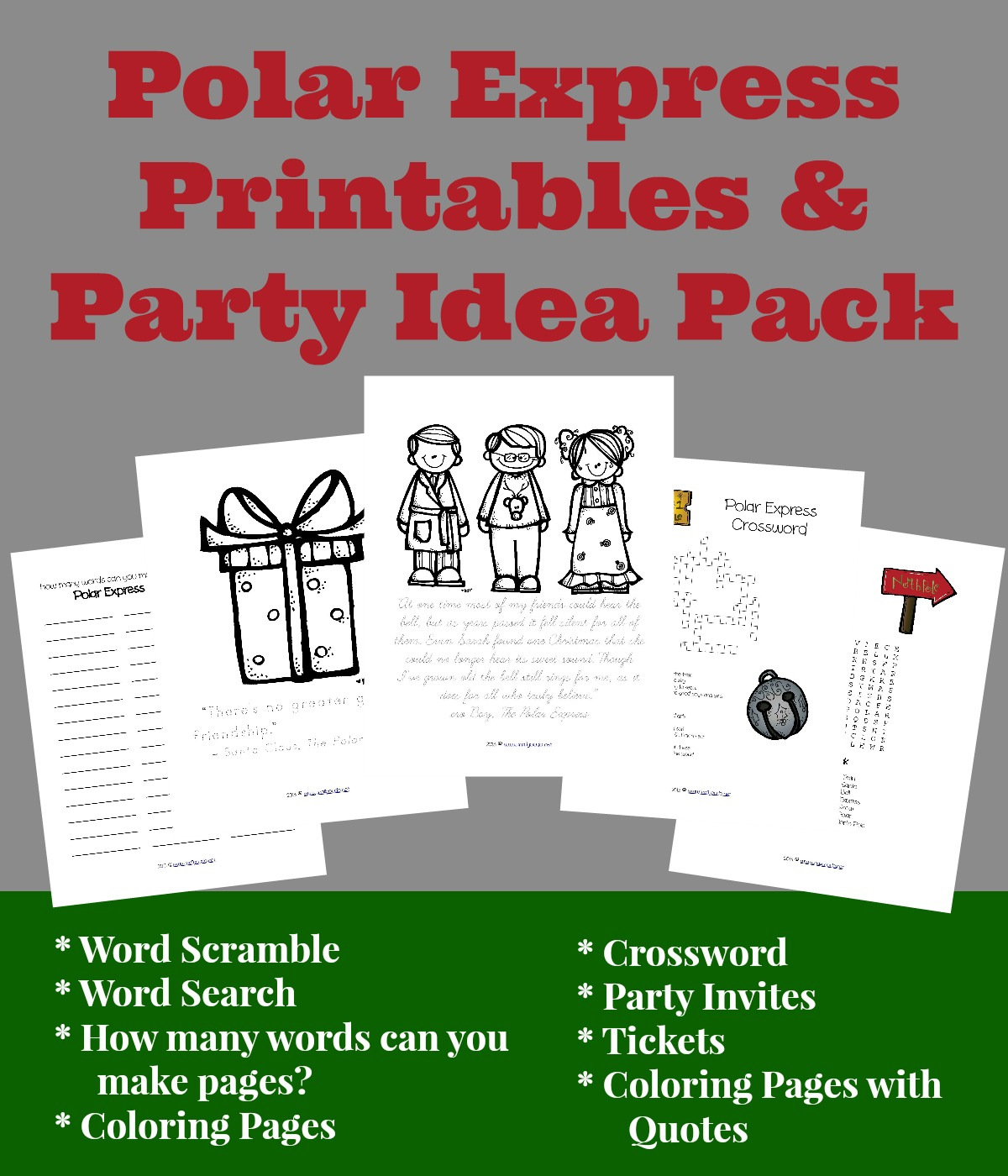 Polar Express Resources Free Printables Crafts
