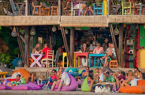 A colourful café in Seminyak via Michael Brewer.