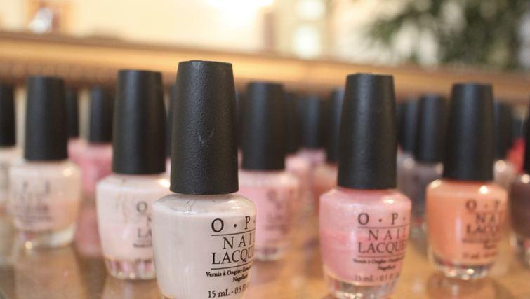 OPI nailpolishes at Gold Dust Beauty Lounge Canggu