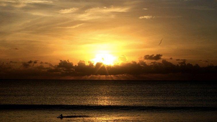 Spectacular sunset in Bali