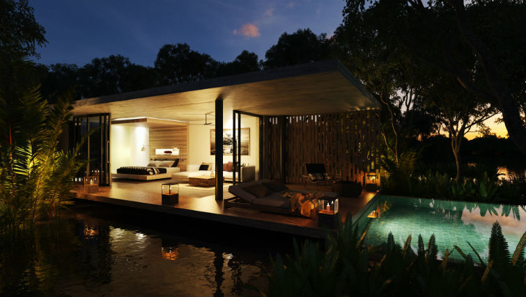 studio accommodation with private plunge pool at BASK Gili Meno