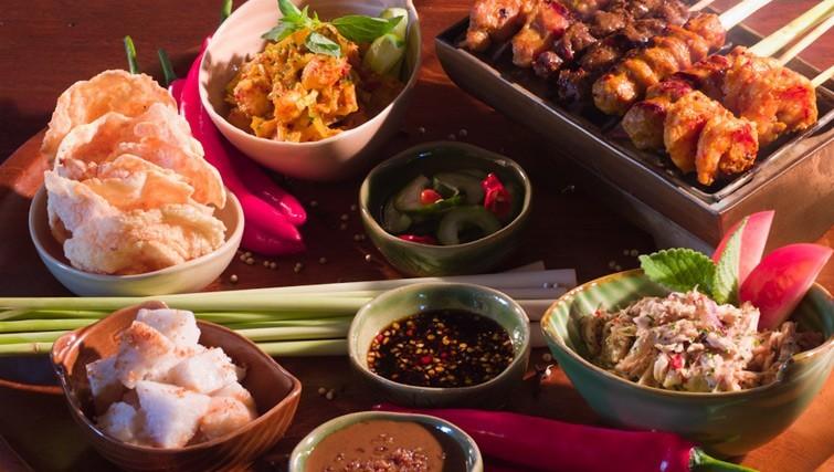 Home style Indonesian food at Bambu Bali restaurant in Nusa Dua