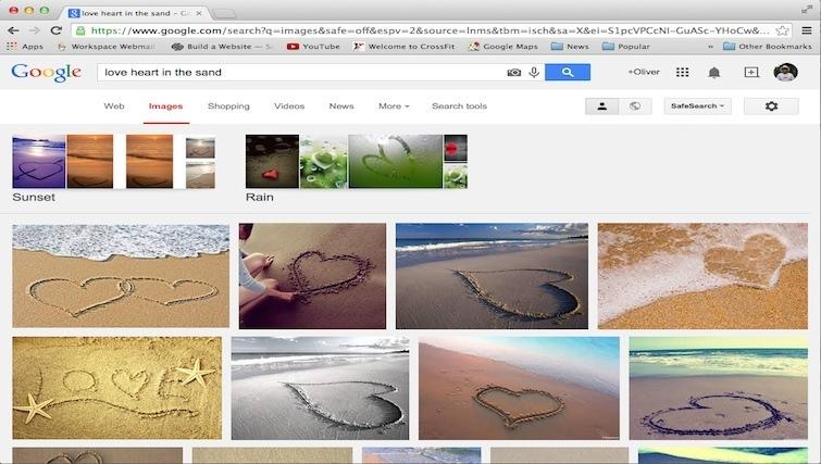 BALI LOVE HEART IN THE SAND
