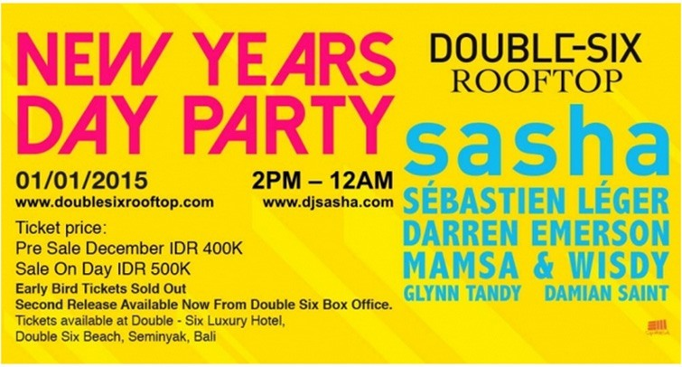 Double-Six Rooftop NYD 2015 party poster