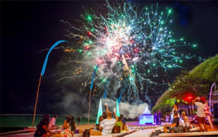 Karma Beach fireworks, Bali
