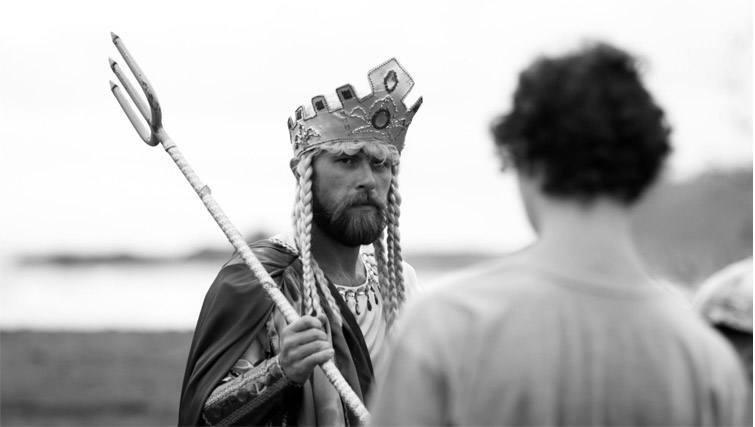 Guy in the Neptune god costume at SurfJam 2014