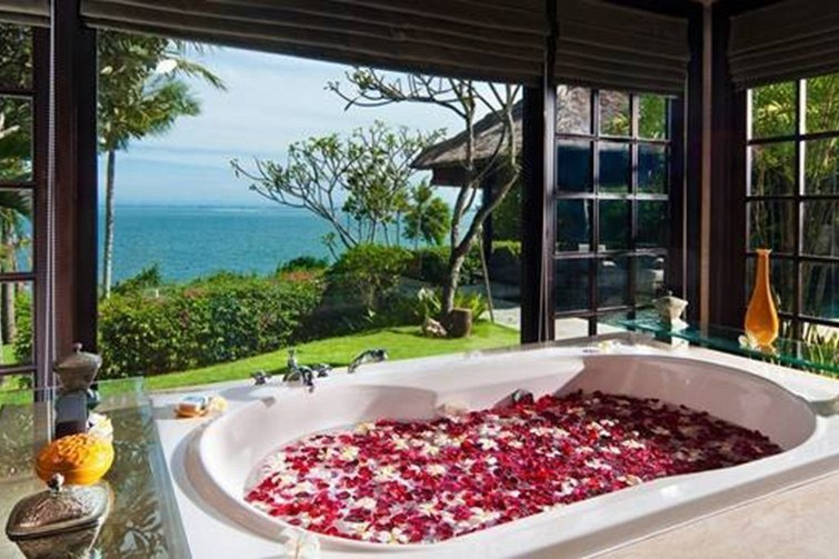 AYANA Resort and Spa pictured in Couple's Spa Villa (Ocean Cliff Villa).
