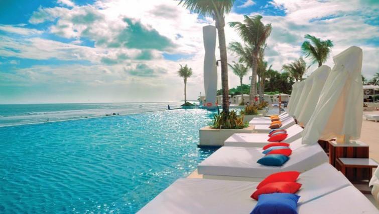 Poolside at LV8 Beach Club in Canggu