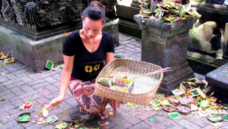 "Odalan preparation inside a pura"". Photo by Riza Nugraha"