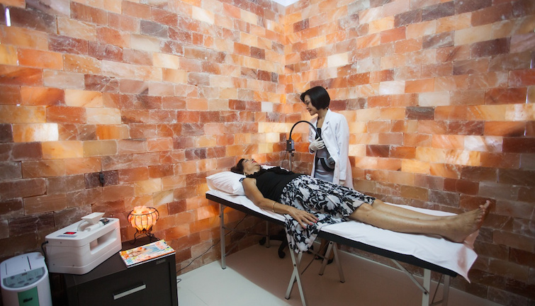 Salt room for Halotherapy at Cacoon Medical Spa