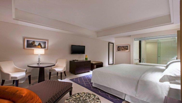 The deluxe room at the Sheraton Bali Kuta Resort