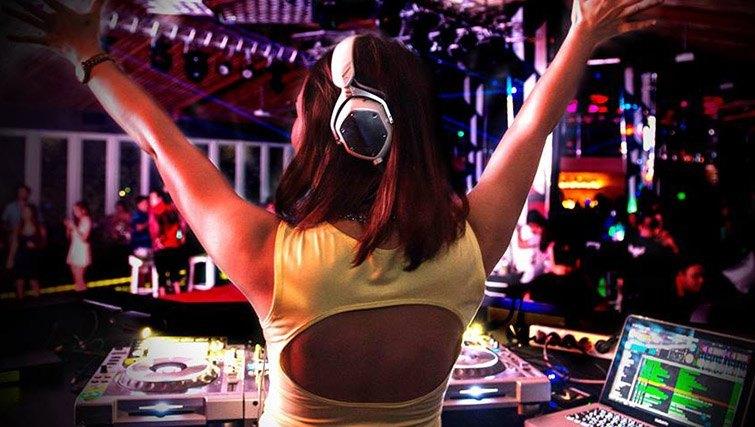 DJs at Love F Bar. At Love F Hotel