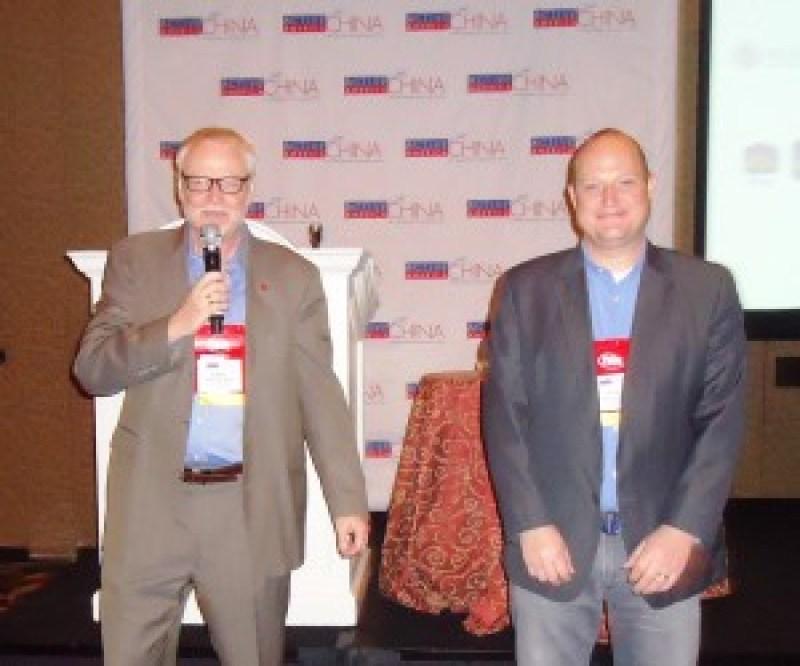 From Travel Portland—Jeffrey Hammerly, international tourism manager, Asia; and Greg Ekhart, manager, global sales, Asia