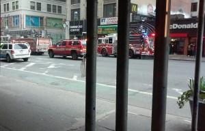 Eight Avenue blocked off.
