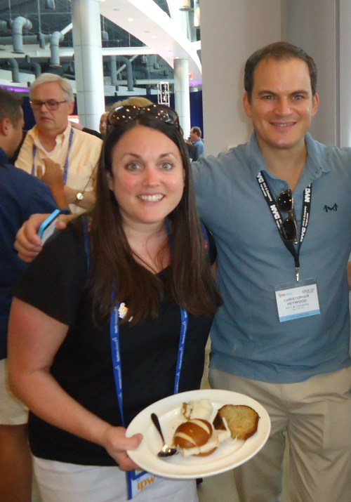 It was SRO at the press brunch—here are Jo Thomas, Brand USA PR account director US Travel/ipa based in London, and Christopher Haywood, senior vice president, global communications, for New York City & Company