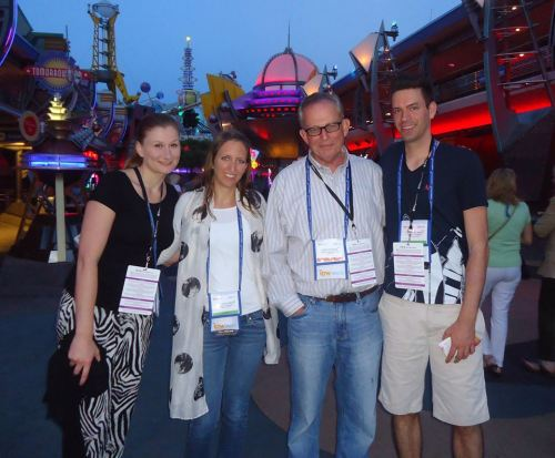 At the ipw event at Disney, among those there are (left-right): Sarah Harwardt, marketing manager, Team America; Angelika Kohlenberg, CFO, Team America; Jake Steinman, founder and CEO of the NAJ Group; and Timo Kohlenberg, president and CEO, Team America.